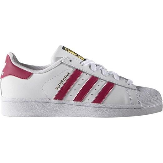 Trampki damskie Adidas Originals superstar płaskie gładkie sznurowane