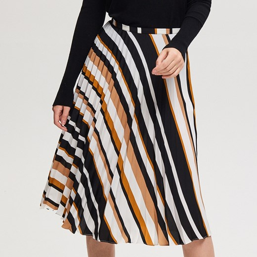 Reserved Plisowana spódnica Wielobarwn