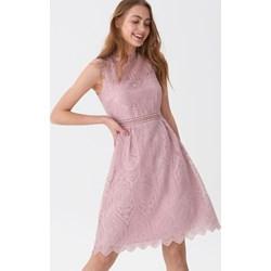 e09b238484 Sukienka House midi bez rękawów trapezowa z okrągłym dekoltem na urodziny  wiosenna