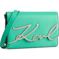 ad186120b22a3 Listonoszka zielona Karl Lagerfeld bez dodatków na ramię ze zdobieniami