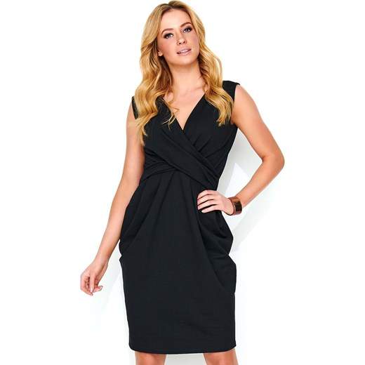 074fe304dd Sukienka Makadamia czarna midi na spacer bez wzorów w Domodi