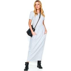 f689782d25 Makadamia sukienka maxi prosta na spacer biała