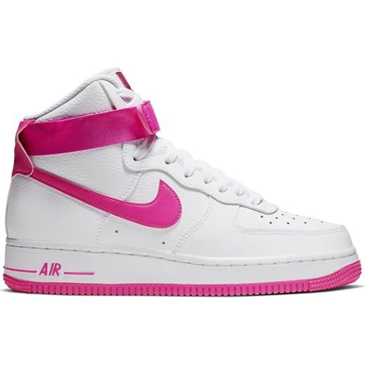 9fe4fa14 ... Buty sportowe damskie Nike dla biegaczy air force białe gładkie płaskie  wiązane ...