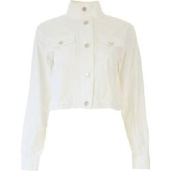 9cdf62e0d6ea5 Kurtka damska Michael Kors biała krótka z bawełny