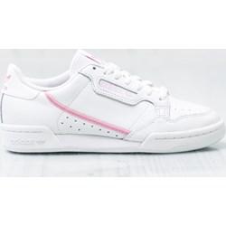 80c58eda Buty sportowe damskie Adidas płaskie białe sznurowane na wiosnę