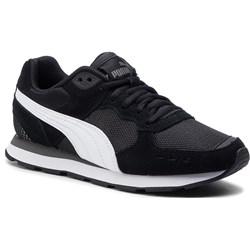 d83ddee8321e7 Buty sportowe damskie Puma sznurowane czarne gładkie skórzane ...