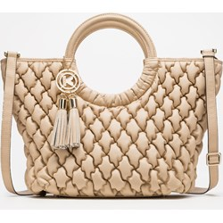 2cd75f18dfcbd Shopper bag Kazar wakacyjna z frędzlami duża pikowana