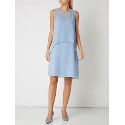53ebe0a1c4 Esprit sukienka z szyfonu gładka midi