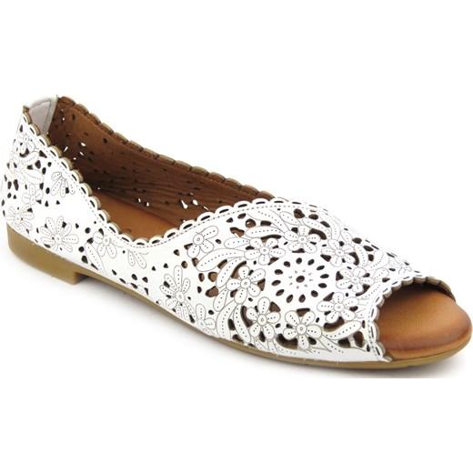 76eb0836 Sandały damskie Venezia płaskie bez zapięcia bez obcasa casual skórzane bez  wzorów