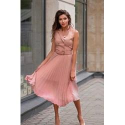 966ac17bc1 Sukienka różowa Ivet.pl midi casual