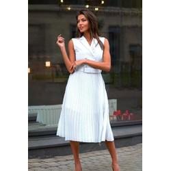 0632d5ca6c Biała sukienka Ivet.pl kopertowa
