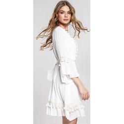 f742986778 Biała sukienka Renee oversize owa mini