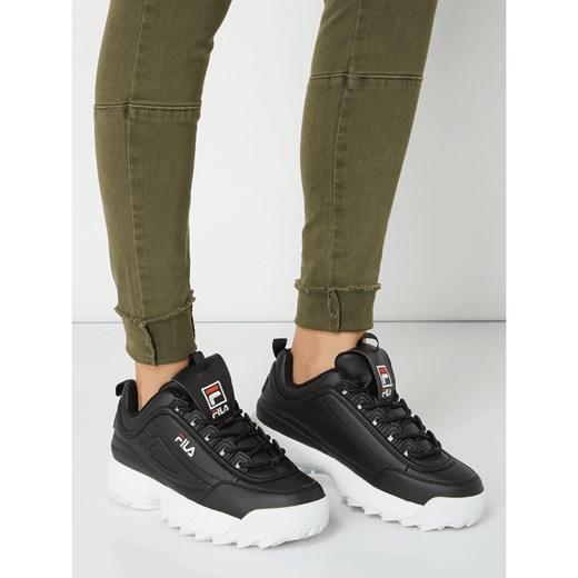 tani Sneakersy damskie Fila bez wzorów sznurowane Buty