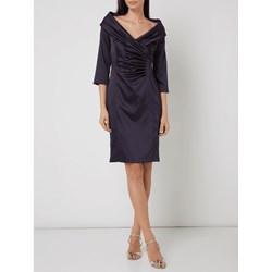 ca17835436 Sukienka Marie Noir kopertowa na sylwestra bez wzorów