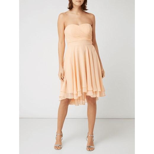 443e488032 Sukienka Paradi elegancka z szyfonu gorsetowa wiosenna w Domodi