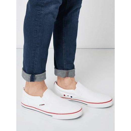 8ebc064185475 Trampki męskie Tommy Jeans jesienne białe bez zapięcia sportowe w Domodi