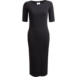 54174a99d4 Sukienka Outhorn prosta czarna elegancka midi na sylwestra