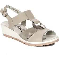 6d0f33f806f6cd Filippo sandały damskie bez wzorów na koturnie casual z niskim obcasem