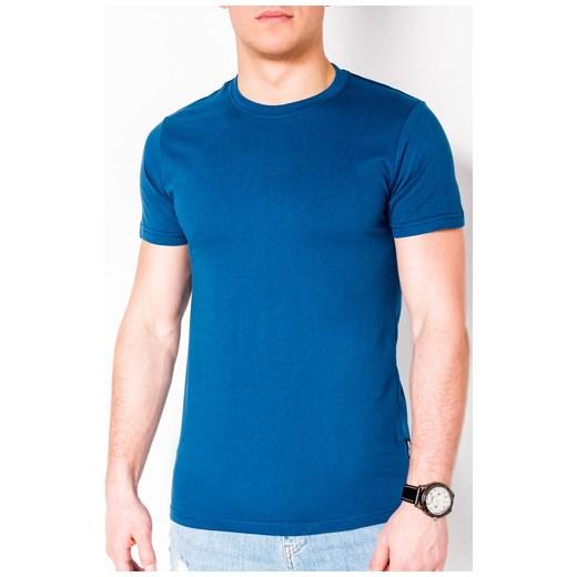 68e3e2b04d T-shirt męski Ombre Clothing z wiskozy z krótkimi rękawami w Domodi
