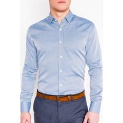 e3cee17f2c15e Koszula męska niebieska Ombre Clothing z długimi rękawami