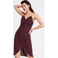 43c3af4bd0 Sukienka Reserved na ramiączkach midi na sylwestra elegancka czerwona z  szyfonu