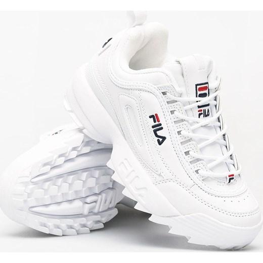 85% ZNIŻKI Sneakersy damskie Fila na platformie gładkie