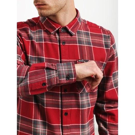 17d685691ceb14 Koszula męska Volcom z klasycznym kołnierzykiem w kratkę z bawełny z ...