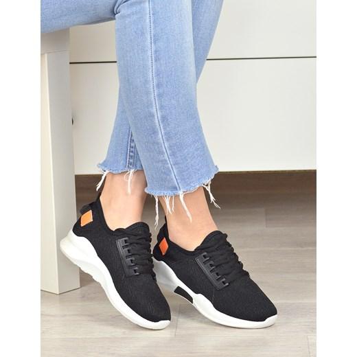 Damle buty sportowe damskie sznurowane bez wzorów płaskie
