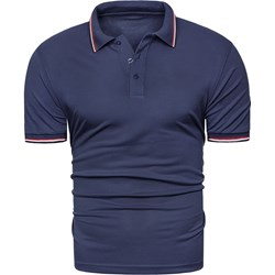 3e533c41a T-shirt męski Risardi z krótkim rękawem bez wzorów