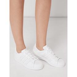187d710e Trampki damskie Adidas Originals superstar białe bez wzorów ze skóry płaskie