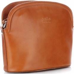 012384ac0068c Listonoszka brązowa Genuine Leather matowa casual na ramię średnia
