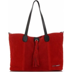 9cc9cc17a58ce Shopper bag Vittoria Gotti na ramię skórzana