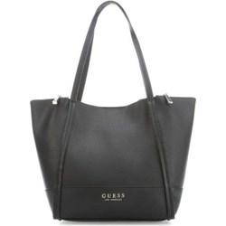 e4972fe19c686 Shopper bag Guess elegancka ze skóry bez dodatków duża