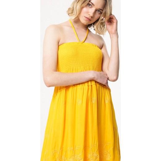 a31150881d ... Sukienka Born2be mini oversize  Sukienka Born2be żółta oversize na plażę  ...