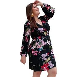 838f85c6c3 Sukienka Elegrina mini z długimi rękawami