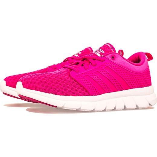 Buty sportowe damskie Adidas cloudfoam rÓżowe na płaskiej