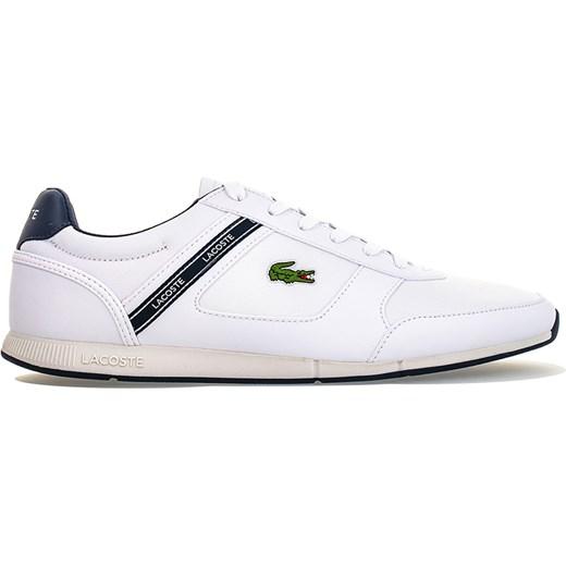 style mody buty do biegania nowe przyloty Buty sportowe męskie białe Lacoste skórzane