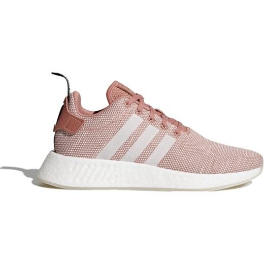 Buty sportowe damskie Adidas nmd różowe bez wzorów płaskie eleganckie