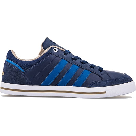 piękny Trampki męskie Adidas niebieskie zamszowe sznurowane