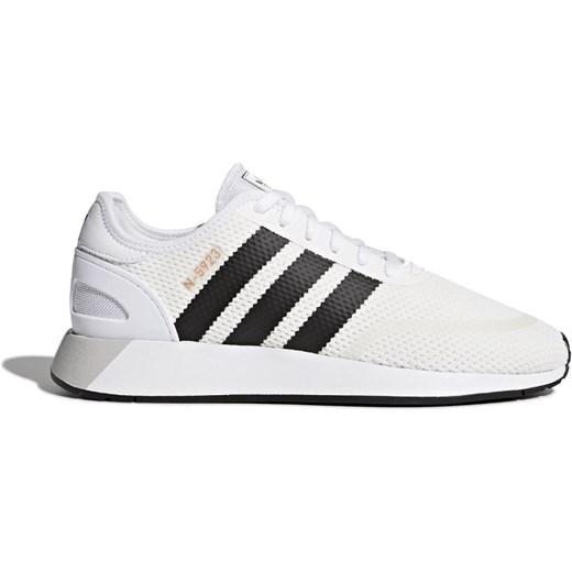 Buty sportowe damskie Adidas sneakersy na płaskiej podeszwie sznurowane na wiosnę