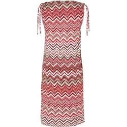 9da73455a6ccae Różowa sukienka Soyaconcept na spacer z jerseyu w abstrakcyjne wzory  casualowa midi