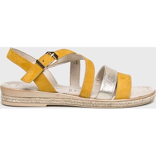 Żółte sandały damskie Marco Tozzi Buty Damskie AN żółty Sandały damskie PABA
