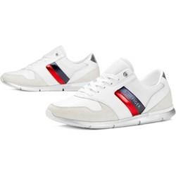 5258fe69e69bf Buty sportowe damskie Tommy Hilfiger sneakersy młodzieżowe zamszowe na  płaskiej podeszwie gładkie sznurowane