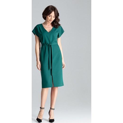 ceec6e8c84 Luźna elegancka sukienka l032 Global JestesModna.pl w Domodi
