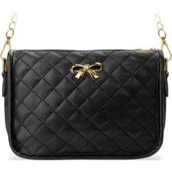 2355b873c8e2c Mała pikowana torebka damska młodzieżowa na ramię na łańcuszku chanelka -  czarny