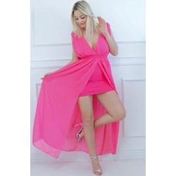 17ae8bbef3 Sukienka różowa z elastanu mini