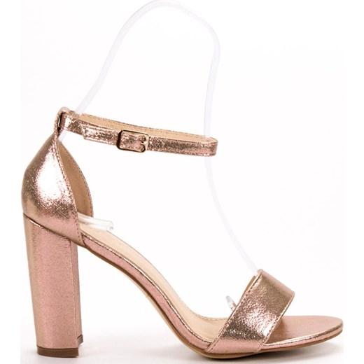 1b52a010 Sandały damskie Buty Goodin na lato różowe na słupku w Domodi