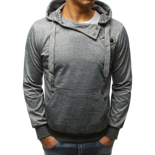Bluza męska z kapturem szara (bx2278) Dstreet