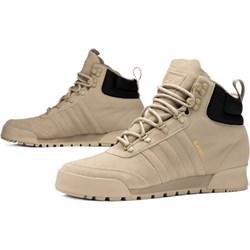 3d146dbc3ea7c Buty zimowe męskie Adidas beżowe sportowe na zimę wiązane