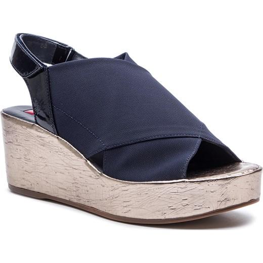 Sandały damskie Högl z tworzywa sztucznego na lato Buty Damskie MN niebieski Sandały damskie LURI
